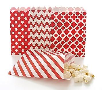 Amazon.com: Rojo favor de la boda bolsas/Bulk bolsas de ...