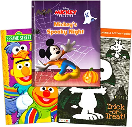 - Amazon.com: Disney Sesame Street Halloween Coloring Books Super Set Kids  Toddlers (3 Books Featuring Disney Mickey Mouse, Elmo And More): Toys &  Games