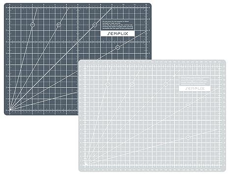 Grafikmesser N/ähwelt Flach Schneidematte Grau//Grau 90 x 120 cm