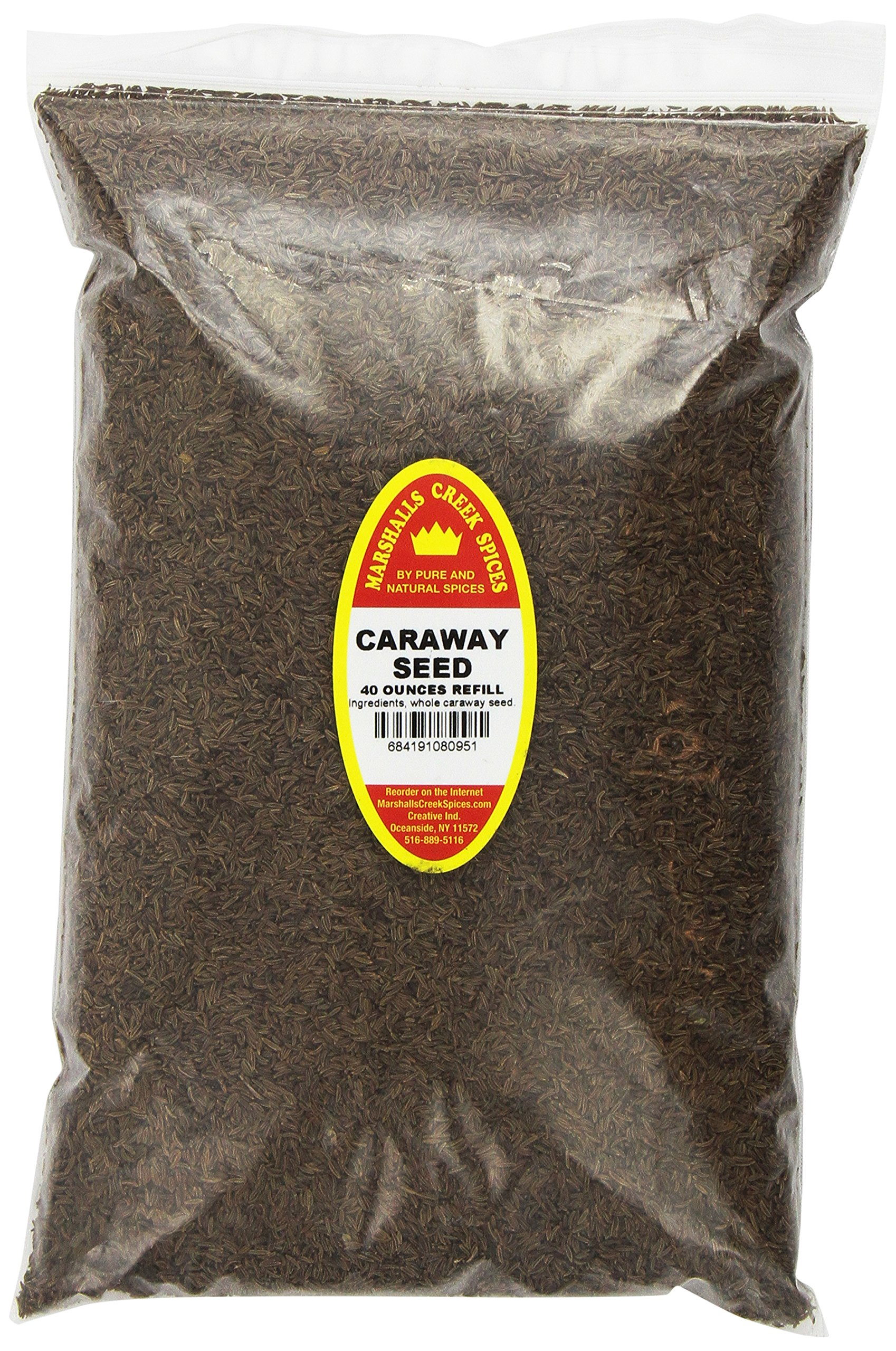 Marshalls Creek Spices Family Size Refill Caraway Seed Whole Seasoning, 40 Ounce