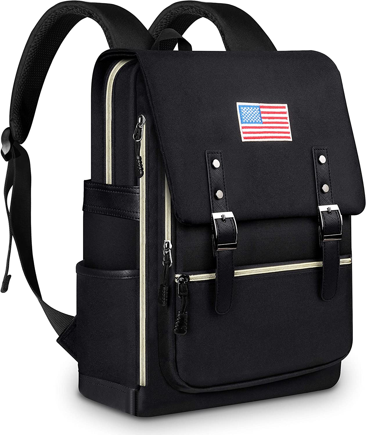 Updated Travel Laptop Backpack, Fashion College School Bookbag Fits up to 15.6 Inch Laptop