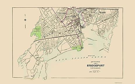Amazoncom Old City Map Bridgeport Connecticut Sothth Part Hurd