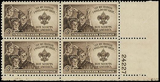 U.S Boys Scouts Of America Scott 1145 MNH Block of 4 Stamps