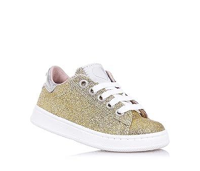e56801bde9bc1 Twin-Set - Chaussure dorée à Lacets en Glitter Cuir