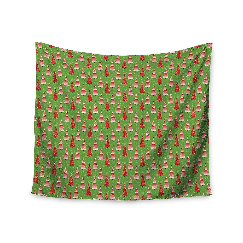 Kess InHouse Julie Hamilton Juniper Christmas Trees Wall Tapestry 51 X 60
