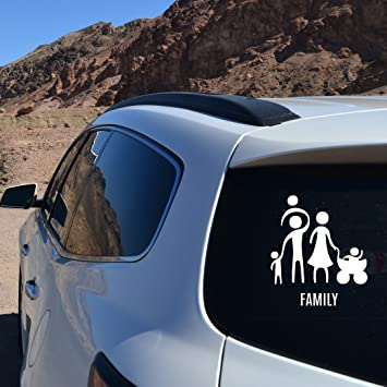 vylumuses The Family is Together Car Styling Window Wiper Decals Rear Windshield Decor Sticker (White