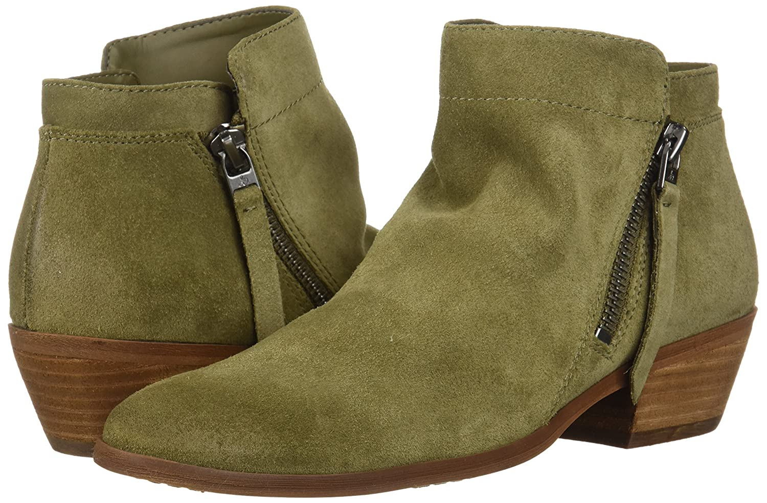 Sam Edelman Women's Packer Ankle Boot B07C9GVNFW 9 W US|Moss Green Suede