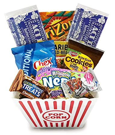 Amazon Movie Night Popcorn And Candy Gift Basket Plus Free