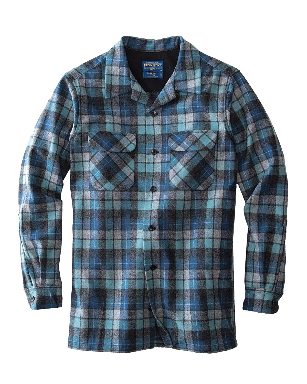 1920s Men's Dress Shirts, Casual Shirts Pendleton Mens Long Sleeve Board Shirt $104.25 AT vintagedancer.com