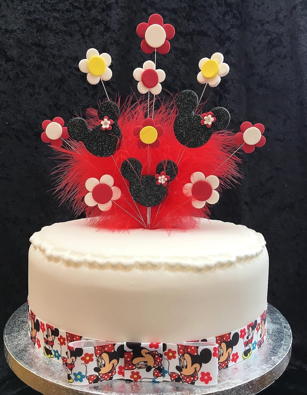 Minnie mouse decoración para tarta para cumpleaños, color ...