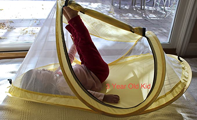 MooMooBaby Pop-Up Baby Beach Crib Tent