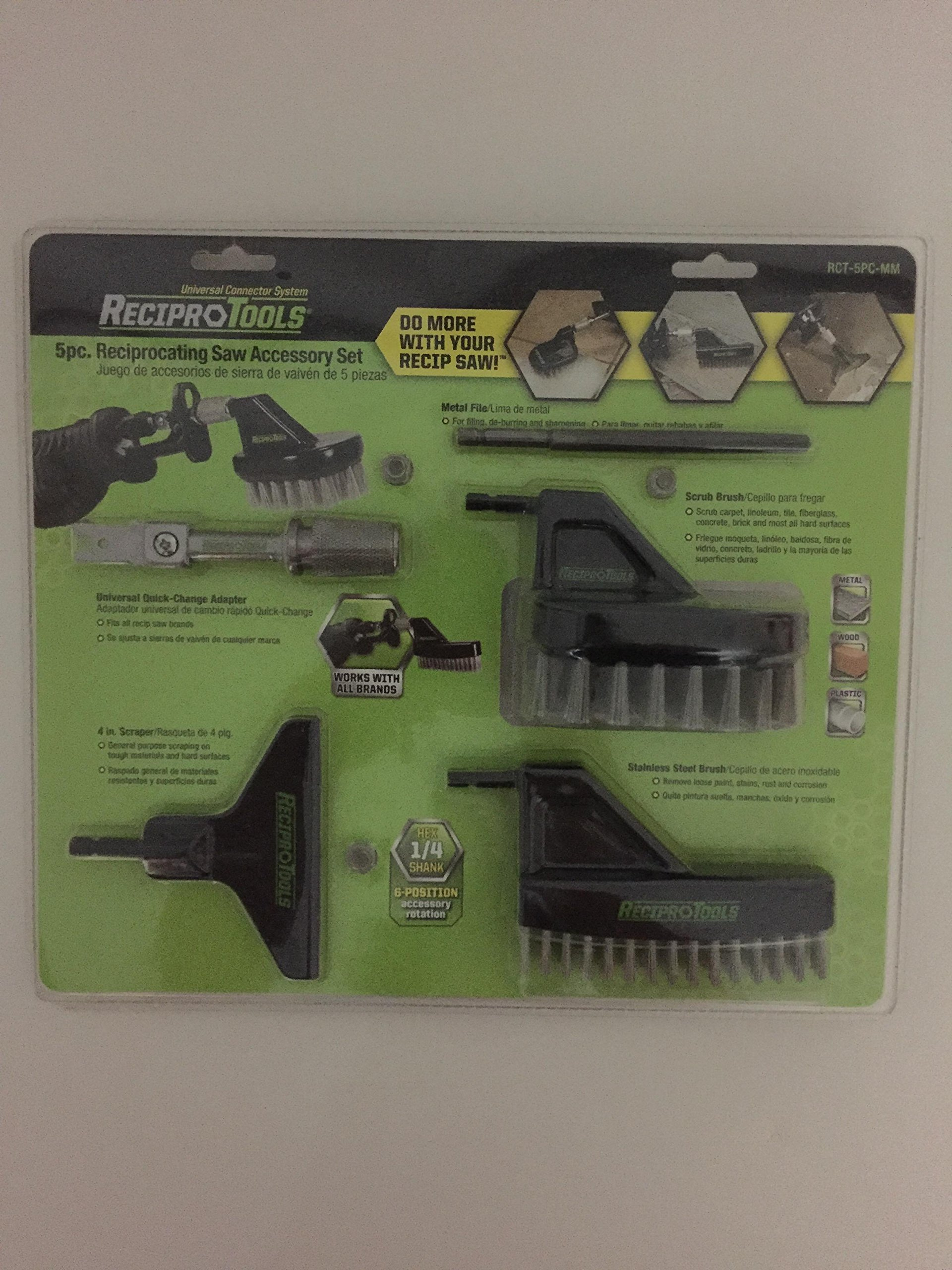 5 pc. Reciprocating Saw Accessory Set by Reciprotools