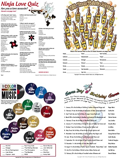 Amazon Com Printable Birthday Party Games For Adults Pack 21