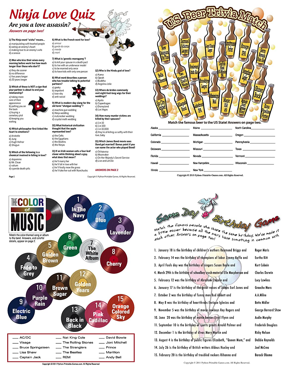 Amazon.com: Printable Birthday Party Games For Adults Pack: 21 Games For  Adult Birthdays for Mac [Download]: Software