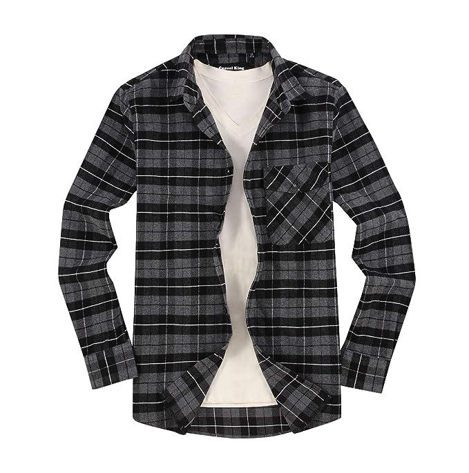 Amazon.com: Camisa de franela de manga larga para hombre ...