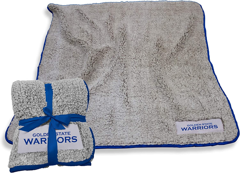 NBA Logo Brands Golden State Warriors Frosty Fleece Blanket, Team Color