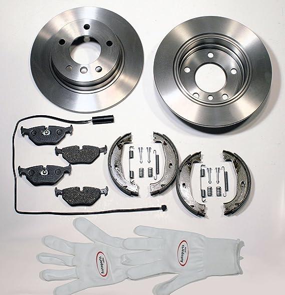 Autoparts Online Set 60004599 Bremsen Bremsscheiben Bremsklötze Handbremse Kabel Für Hinten Für Die Hinterachse Auto