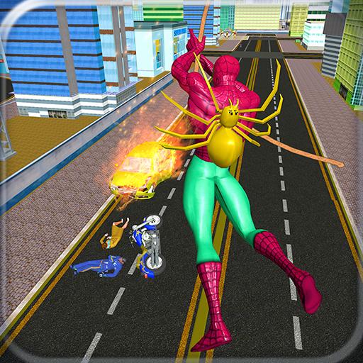 Spider Hero Terrorist Action Rope Superhero