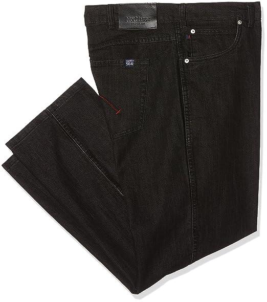 5c2cdca8d57f North 56-4 Men's 99830 Loose Fit Jeans, Schwarz (Black Stone Wash 0098