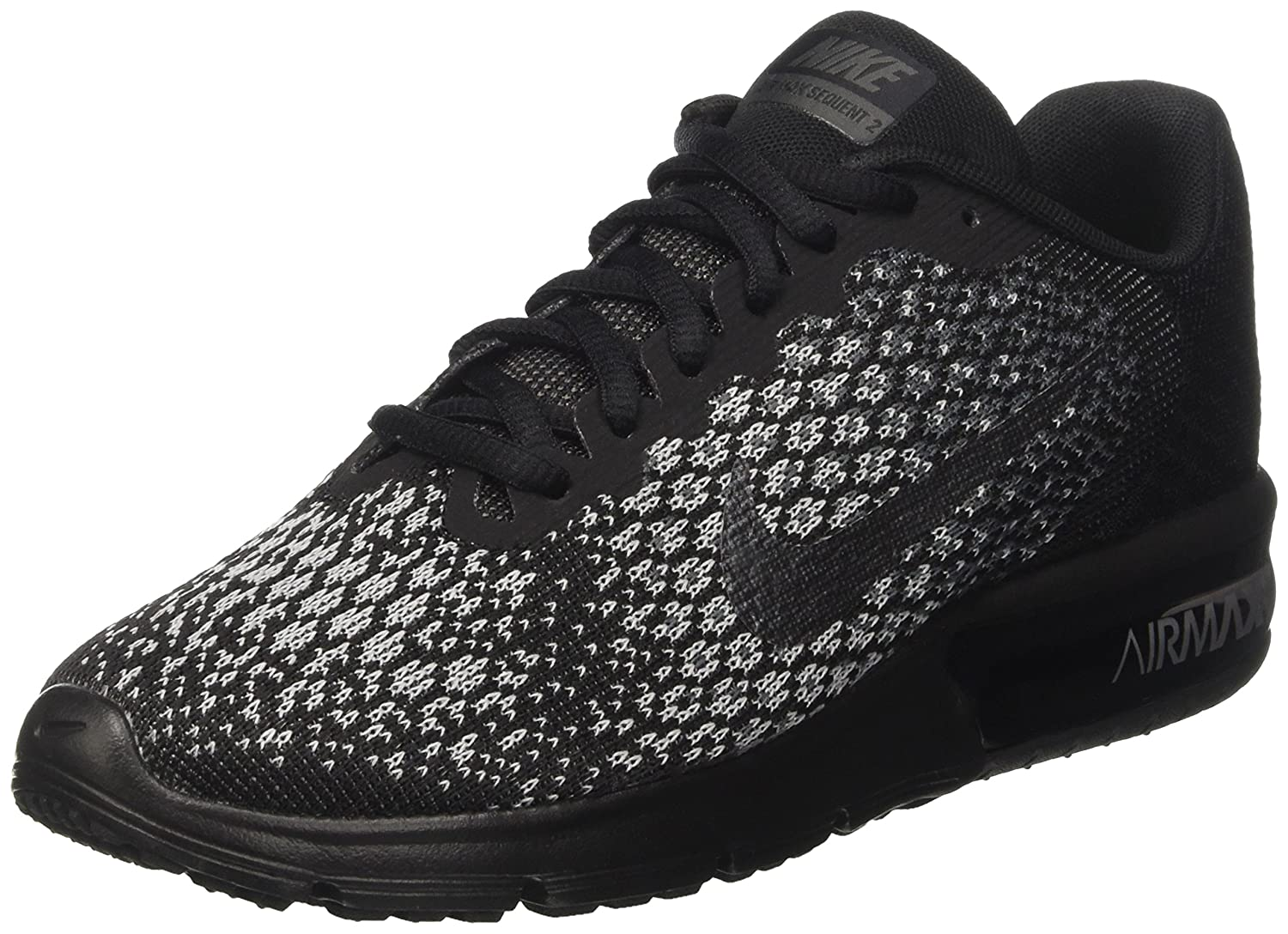 NIKE Men's Air Max Sequent 2 Running Shoe B01H4XFKUU 9.5 B(M) US|Black/Mtlc Hematite/Dark Grey