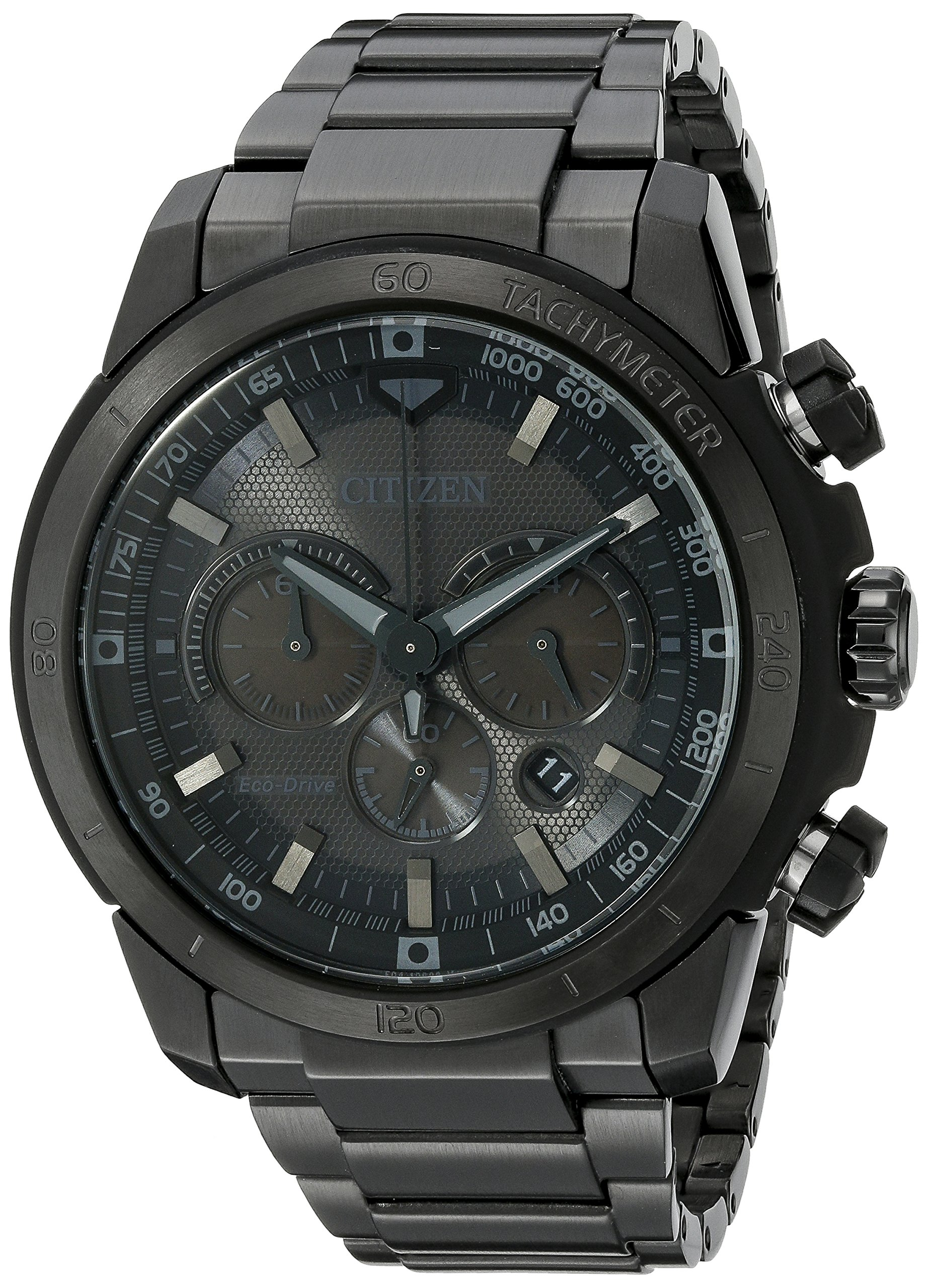 Citizen Men's Eco-Drive Chronograph Stainless Steel Watch with Date, CA4184-81E by Citizen