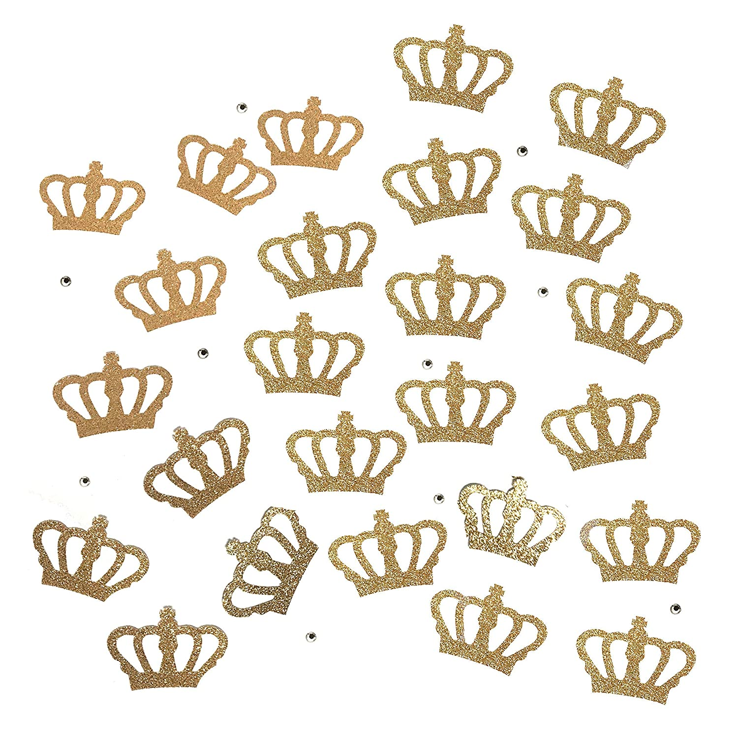 Gold Princess Crown /& Red Heart Glitter Confetti Queen Heart Baby Shower Royal Little One Birthday Party Wonderland Party Decoration