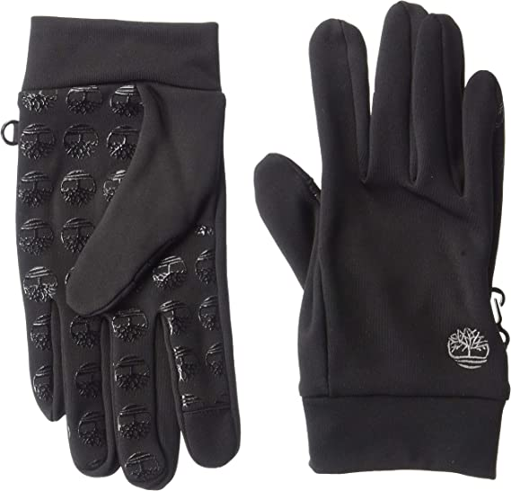 Timberland Men/'s Commuter Glove Stretch Tree Logo Palm with Touchscreen Black,