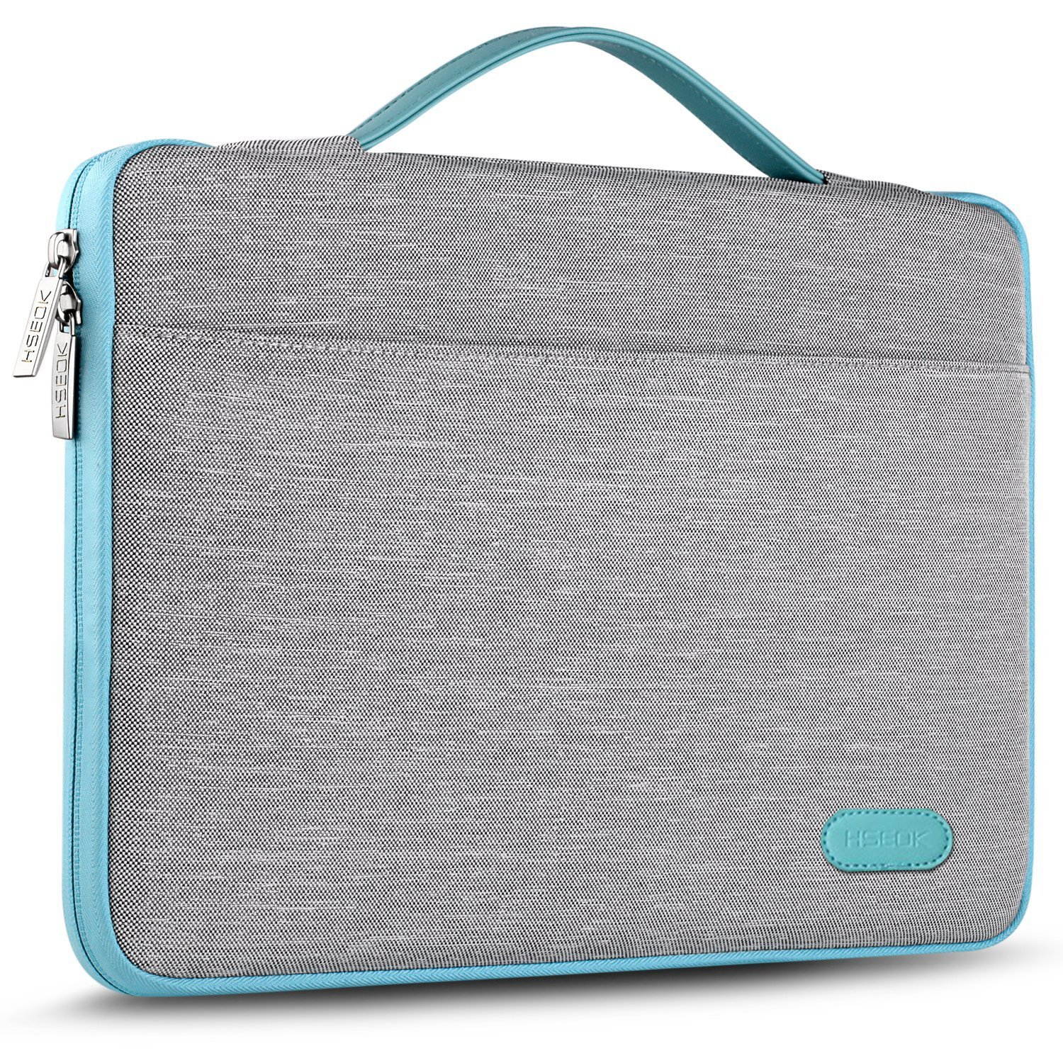 HSEOK 13-13.3 Inch Laptop Sleeve Case, Environmental-Friendly Spill-Resistant Briefcase for 13-Inch MacBook Air/Pro, iPad Pro 12.9-Inch, Surface Laptop/Book/Pro3/Pro4 and Most 14-Inch Laptop, Gray by Hseok (Image #1)