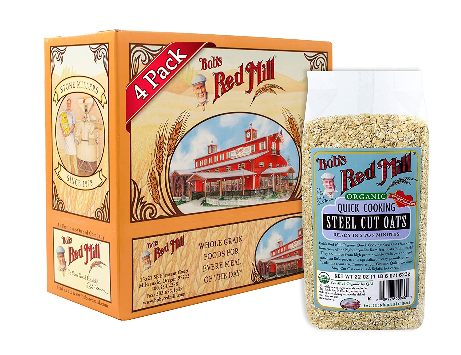 Amazon Bobs Red Mill Organic Quick Cooking Steel Cut Oats 22
