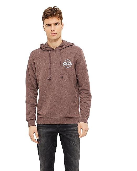 Jack   Jones Herren Hoodie Sweatshirt Pullover Kapuzenpullover (S, Braun) dddcc89235