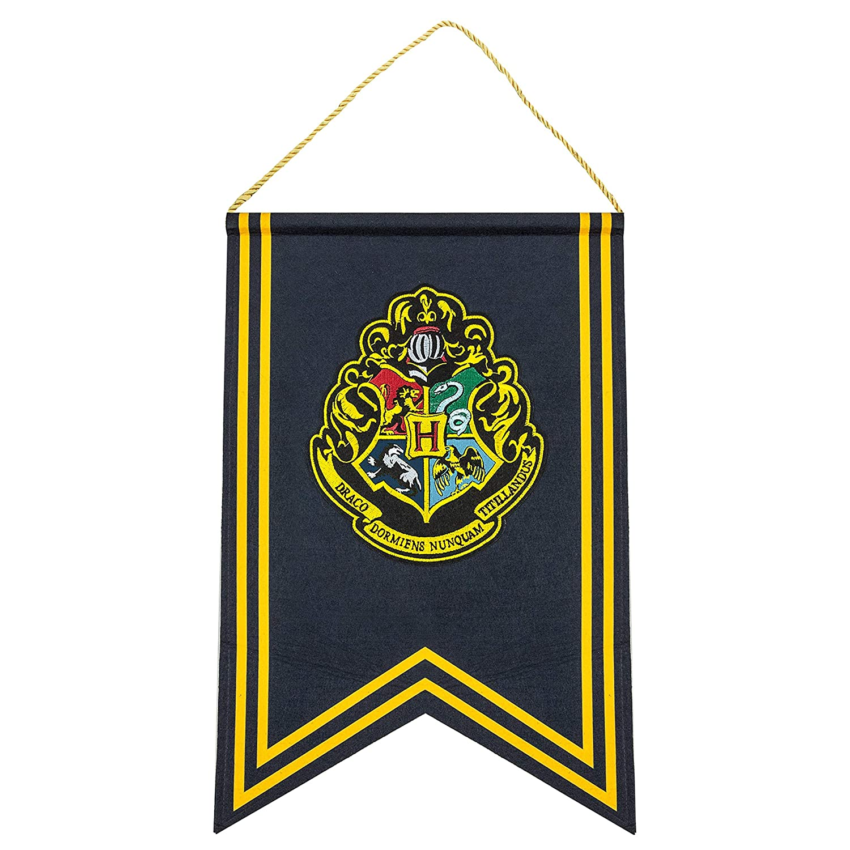 Set di Bandiere e bandierina 30 x 43 cm Ufficiale Cinereplicas Harry Potter Tassorosso