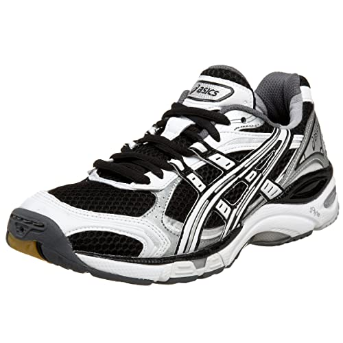 3f32c0c6faecb ASICS Women's GEL-Volleycross Volleyball Shoe,White/Black/Silver,13 B US