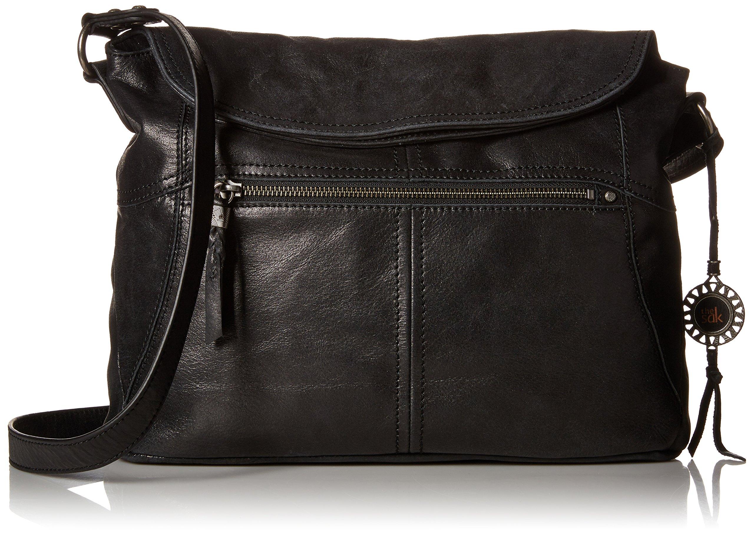 The Sak Esperato Flap Hobo Convertible Cross Body Bag,Black,One size