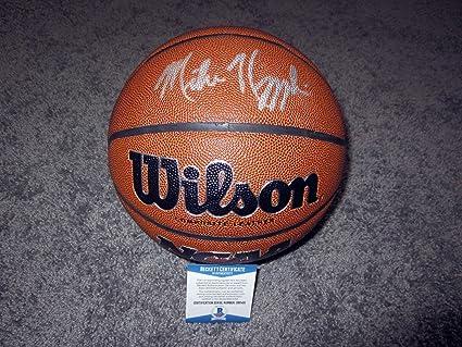 5340ea354313 MIKE KRZYZEWSKI Coach K Duke Blue Devils SIGNED Wilson Basketball w BAS COA  - Beckett