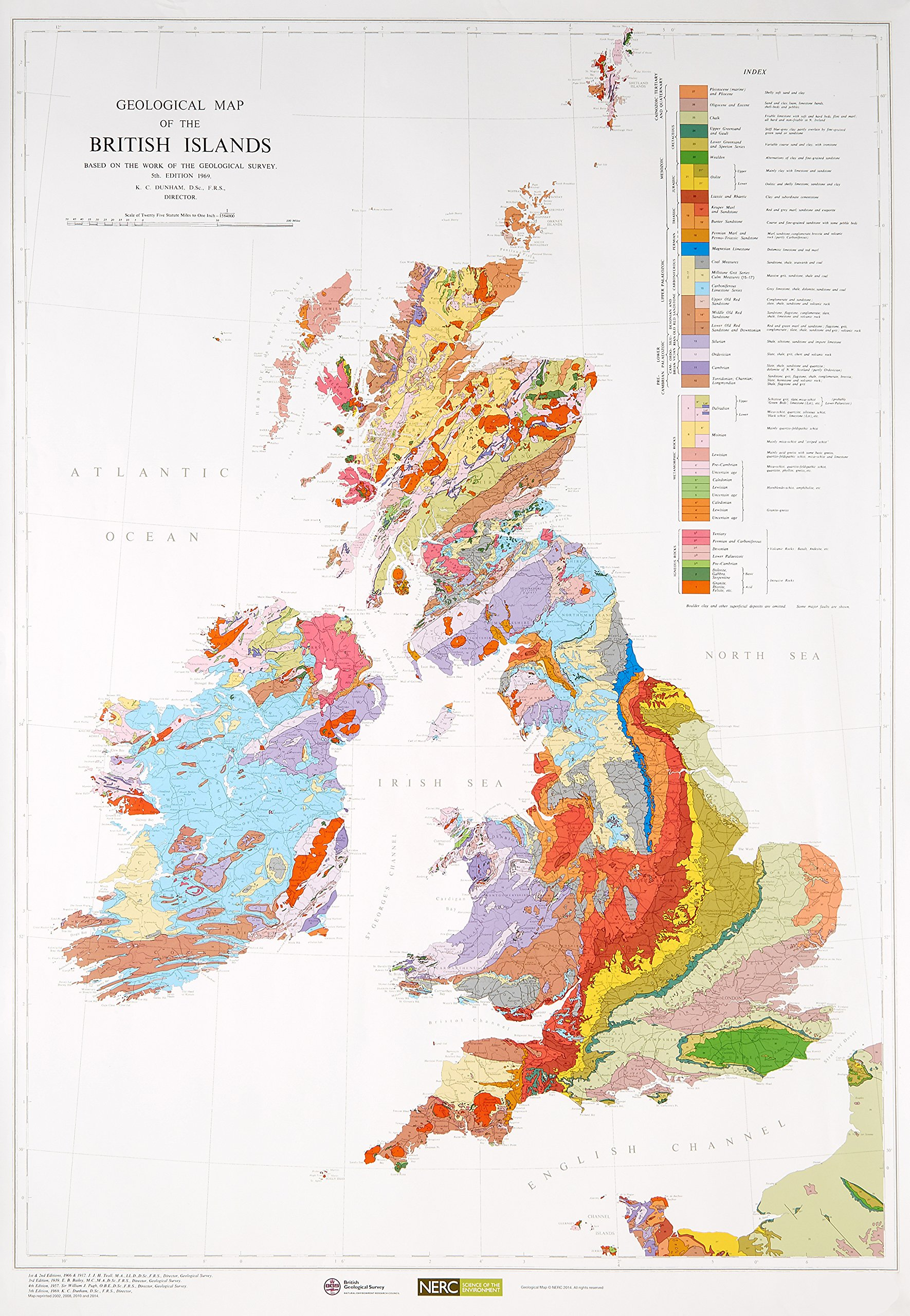 Map Of Ireland With Islands.Geological Map Of The British Islands Small Scale Geology Maps