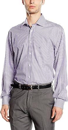 Macson Camisa Hombre Lila/Blanco 39 cm (02): Amazon.es: Ropa y accesorios