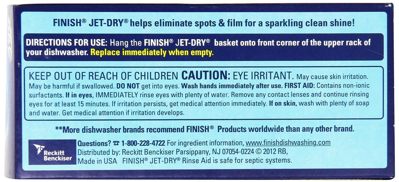 Dishwasher Brands Amazoncom Finish Jet Dry Solid Rinse Aid 268 Oz 2 Baskets