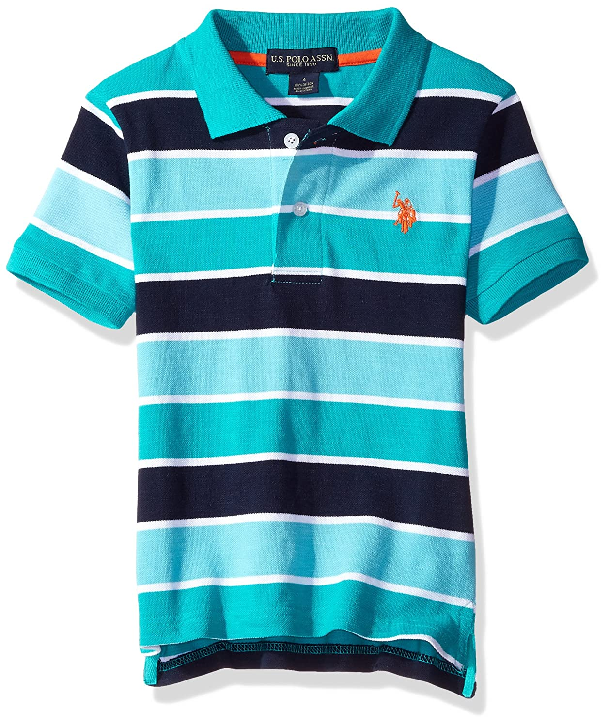 U.S. Polo Assn. Boys' Short Sleeve Space Dyed Shirt SC38