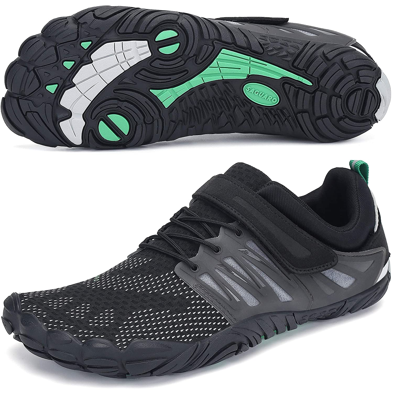 SAGUARO Hombre Mujer Minimalistas Zapatillas de Deporte Trail Running Calzado Caminar Cómodas Senderismo Ciclismo Ligeras Deportivas Andar Trekking Montaña Agua Exterior Interior(Negro, 36 EU): Amazon.es: Zapatos y complementos