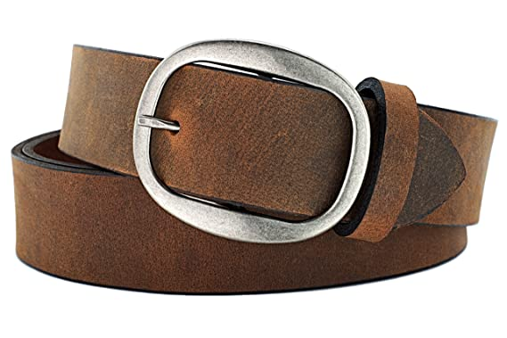 43531154294 Naleeni Womens Dark Brown Leather Belt W Buckle Options. Made in USA 1.5 In  Wide at Amazon Women s Clothing store