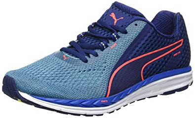 e958d0a35de Puma Men s Speed 500 Ignite 2 Blue Depths-Nrgy Turquoise Running Shoes - 10  UK