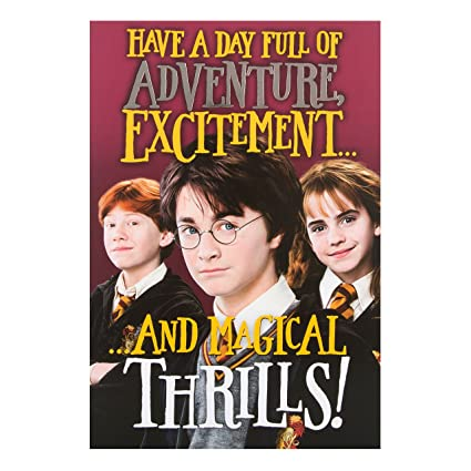 Amazon Harry Potter Magical Thrills Birthday Card Office Products