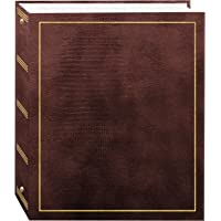 100 Magnetic Page 3-Ring Photo Album, Brown