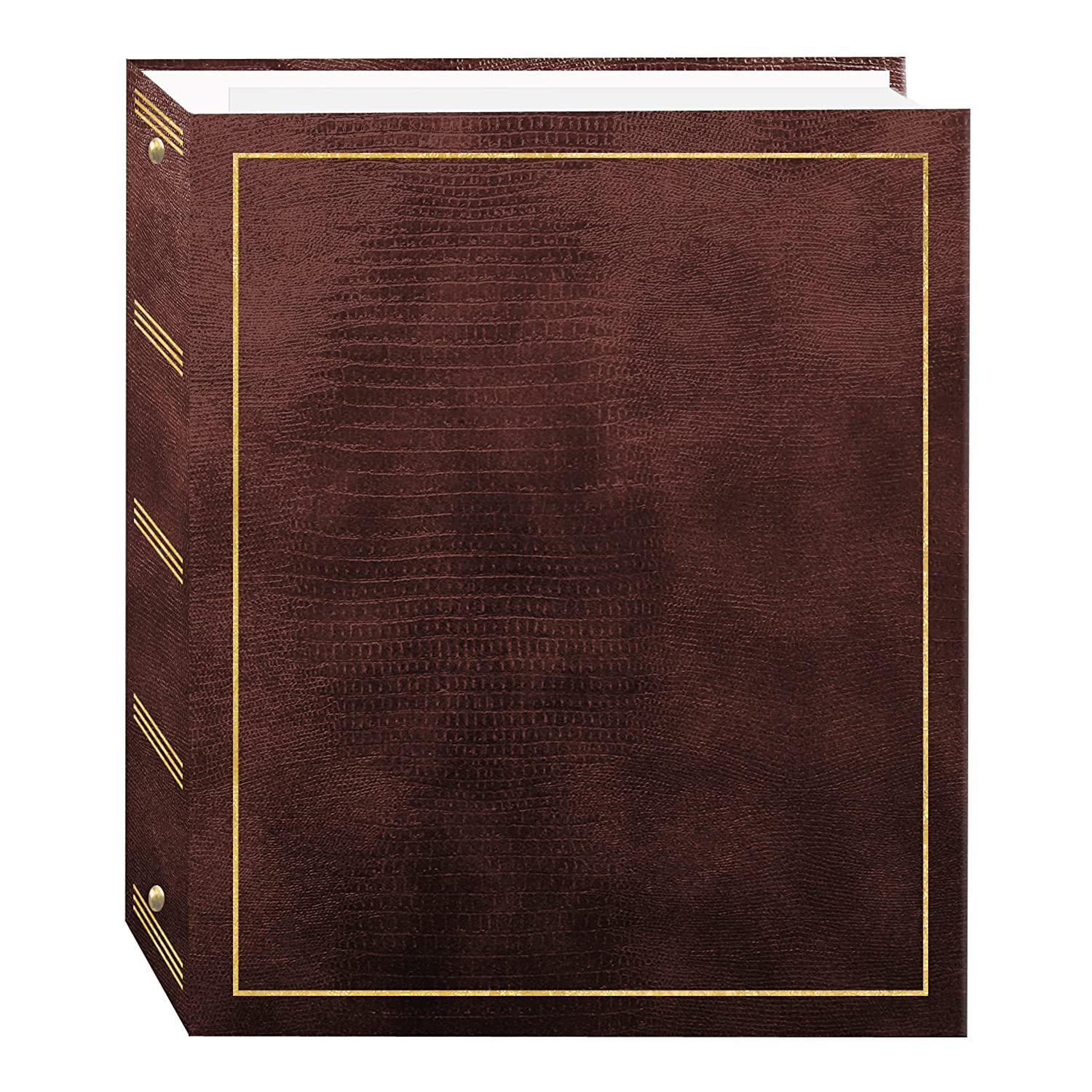Magnetic Self-Stick 3-Ring Photo Album 100 Pages (50 Sheets), Brown Pioneer Photo Albums inc. LM-100/BN