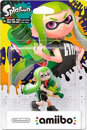 Nintendo - Figura amiibo Splatoon Inkling Chica, Color Verde ...