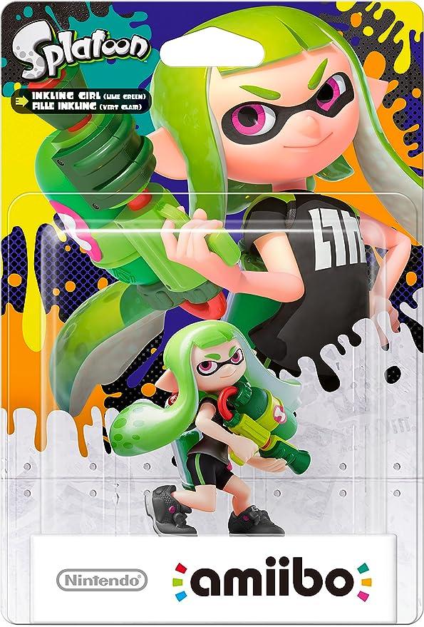 Nintendo - Figura amiibo Splatoon Inkling Chica, Color Verde: Amazon.es: Videojuegos