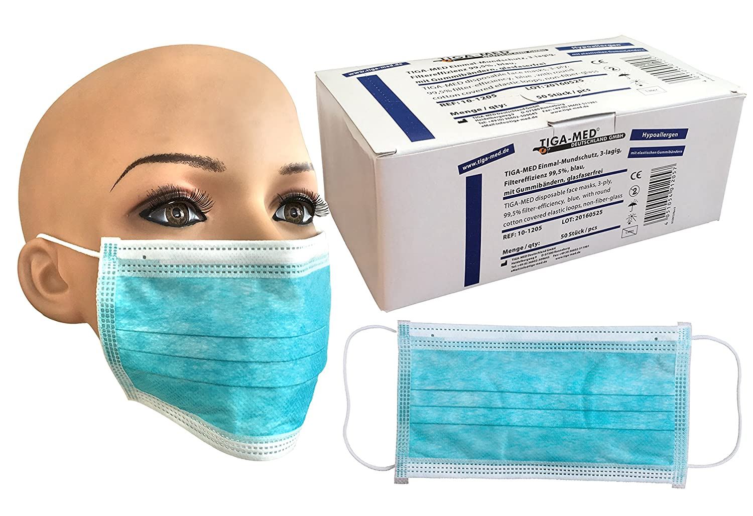 tiga med surgical mask