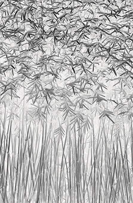 JP London Heavyweight Non Woven Art JPL and JEFFLIN LING Present Parallelism Abstract Zen Bamboo Leaf Stalk Trees 36in x 24in Prepasted Fully Removable Wall Poster Mural SPMURLT1X949916