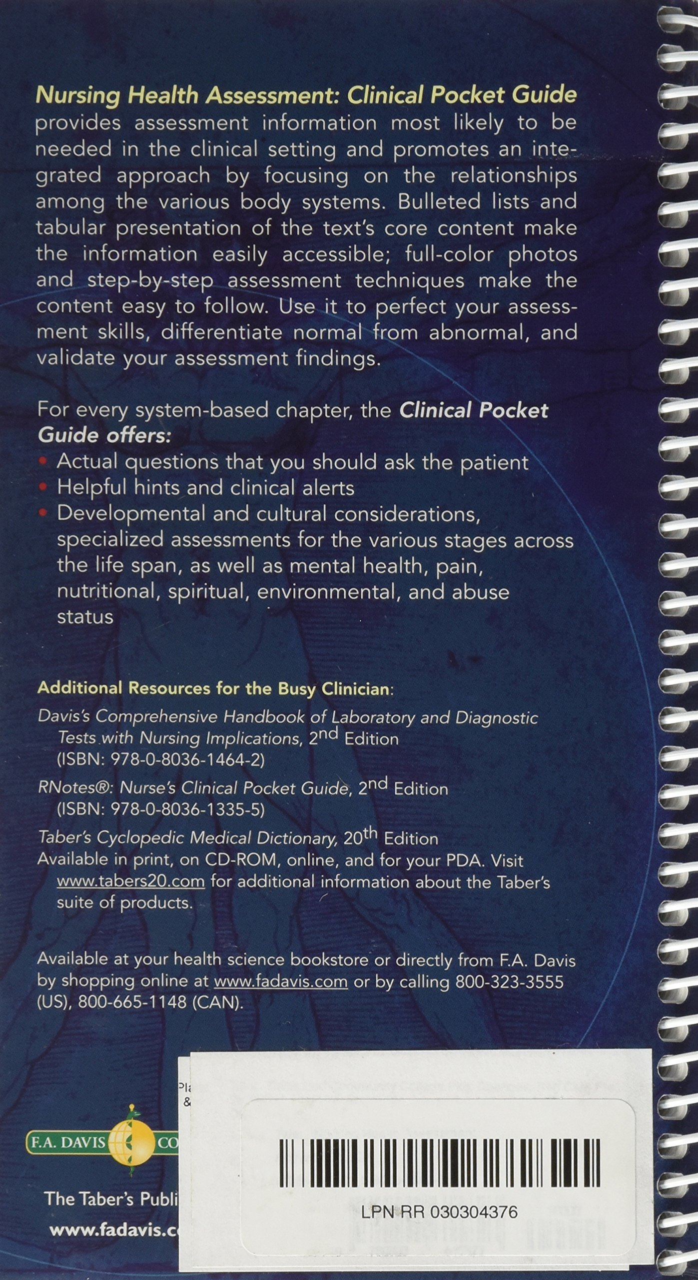 Nursing Health Assessment Clinical Pocket Guide 2nd edition: Amazon.com:  Books