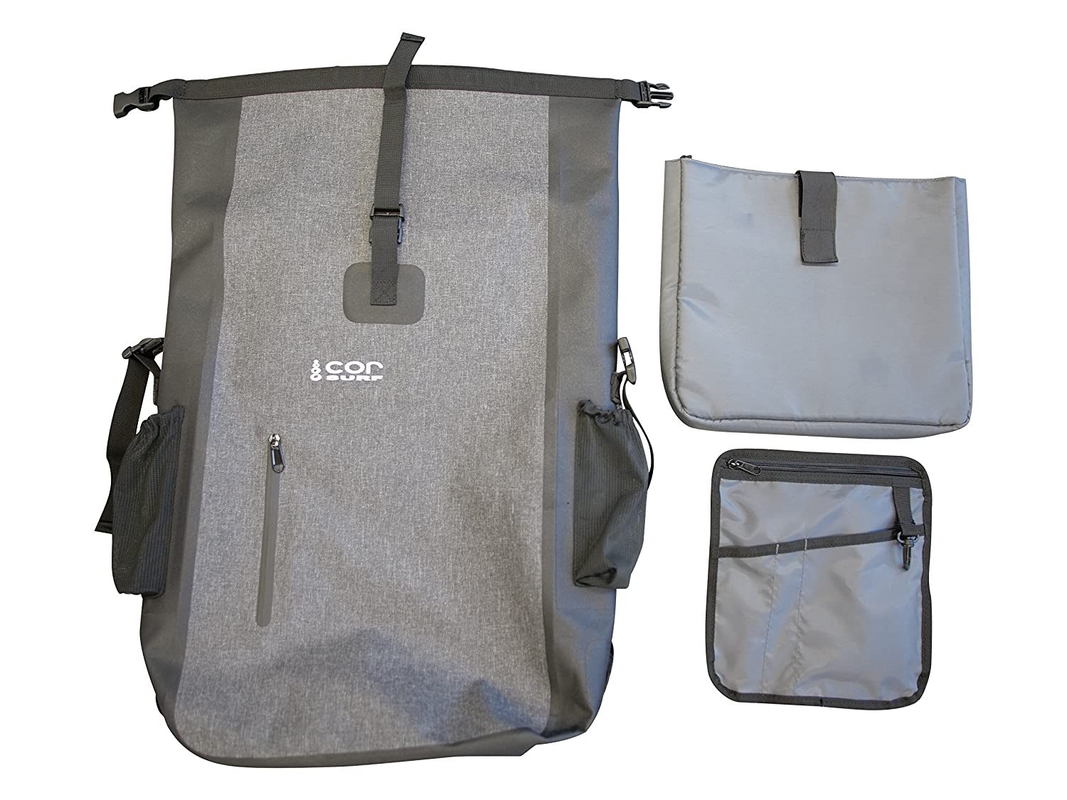117e7bc9f2 Amazon.com  Waterproof Backpack - Ultralight 40L Dry Pack with Removable  Laptop Sleeve and Secret Passport Pocket by Cor Surf